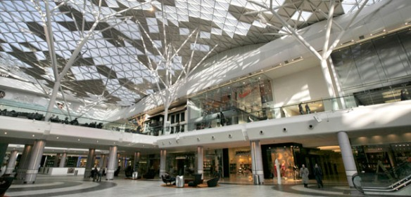 Westfield London site photography.